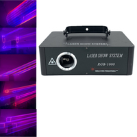 1w rgb di animazione di colore Completo del proiettore 1w DJ luce laser rgb laser dj luci dmx fascio di luce multi colore