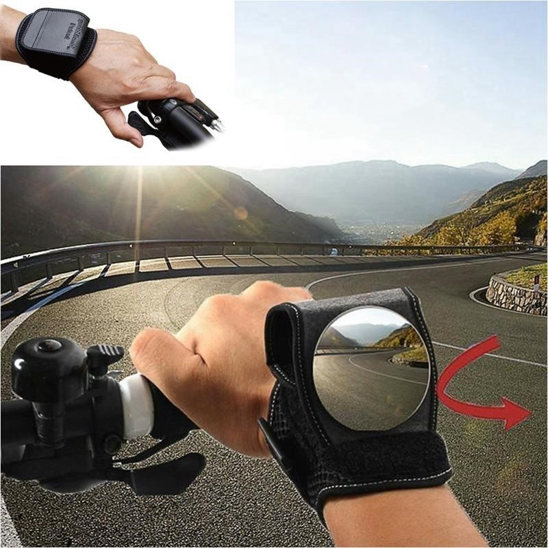 Bike Mirrors Bicycle Wrist Mirror Rearview Wristband Bike Accessories MTB Handlebar Reflector Wristband Mirror Riding Equipment