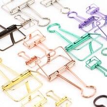 Trajes de estudo em 3 cores, prato de ouro, verde rosa, roxo, grande, médio e pequeno, para escritório clipes clipes