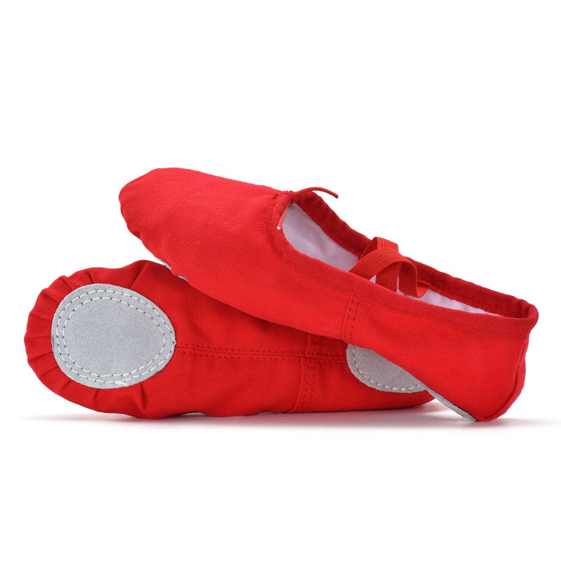High Quality Ballet Shoes Black Red Pink White Canvas Flats Yoga Teacher Gymnastic Dance Shoes Children's Ballet For Girls Women