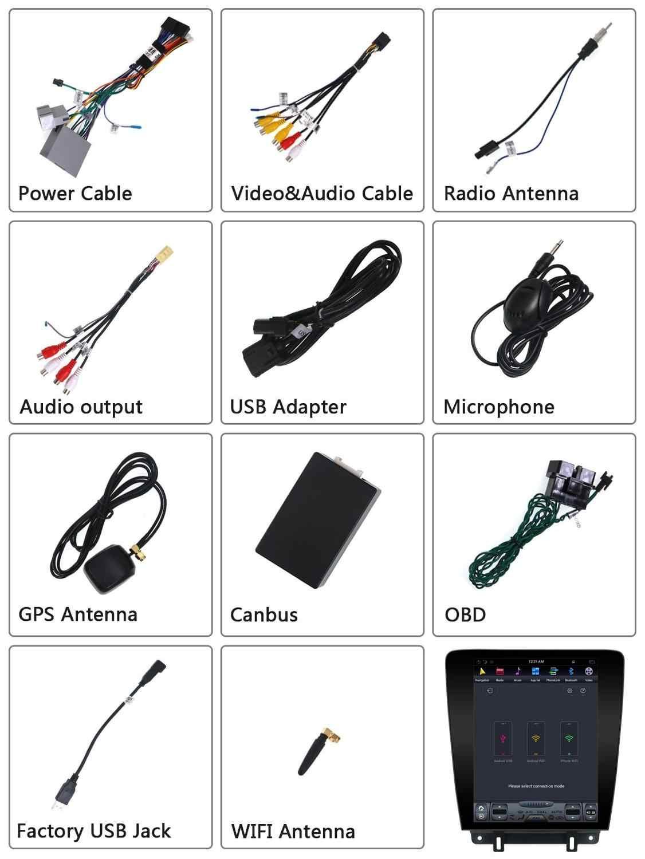 Ekran tesli Tandroid9.0 styl Tesla 4GB RAM nawigacja samochodowa gps dla forda mustanga 2010-2014 samochodowy magnetofon radiowy jednostka główna DSP