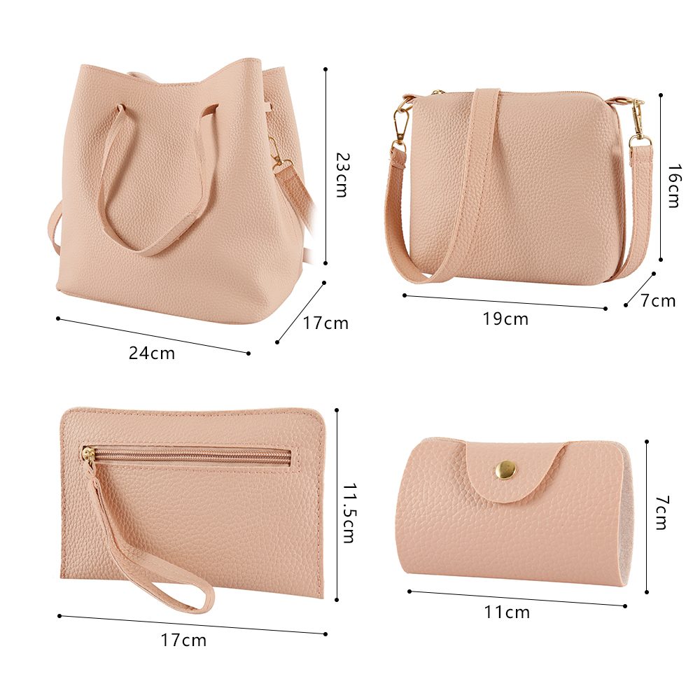 H292ec0d12e114ffaac5331abf8cd56dbQ - 4 Pcs Women's Handbags & Purse