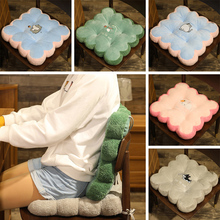 Cushion Seat Office-Chair Cartoon Toy Petal Biscuit Plush-Pillow Square Thickened Winter