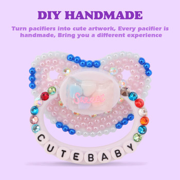 100% Handmake Shining Cute Pattern ABDL Adult Baby Pacifier Silicone DDLG Adult Size Pacifier Daddy Girl Dummy Dom daddy dom ddlg abdl leather collar