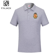 F.N.JACK New Trending Casual Tops for Man  Short Sleeve Mans Summer Polo Mens Classic Cotton Polo Shirt