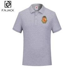 F.N.JACK, новинка, трендовые повседневные топы для мужчин, короткий рукав, мужские летние поло, Мужская Классическая хлопковая рубашка поло