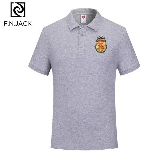 F. n. جاك جديد الإمالة عارضة قمم للرجل قصيرة كم مان الصيف بولو الرجال الكلاسيكية القطن قميص بولو