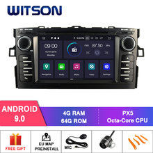 Witson android 9.0 ips tela hd para toyota auris 2007-2011 carro dvd gps 4 gb ram + 64 gb flash 8 octa núcleo estéreo + dvr/wifi + dsp + dab(China)