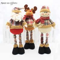 47cm Santa Claus Schneemann Weihnachten Puppen Weihnachten Dekorationen für Startseite Versenkbaren Stehend Spielzeug Geburtstag Party Geschenk Kinder Natal