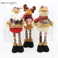 47 см Санта-Клаус Снеговик Рождественские куклы Рождественские украшения для дома Выдвижная стоящая игрушка подарок на день рождения для де...