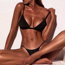 # H40 Sexy stałe stringi brazylijski zestaw Bikini Push-Up 2020 strój kąpielowy kobiety stroje kąpielowe strój kąpielowy strój kąpielowy kostiumy kąpielowe Biquini tanie tanio Osób w wieku 18-35 lat W połowie pasa Drut bezpłatne Swimwear WOMEN Pasuje prawda na wymiar weź swój normalny rozmiar