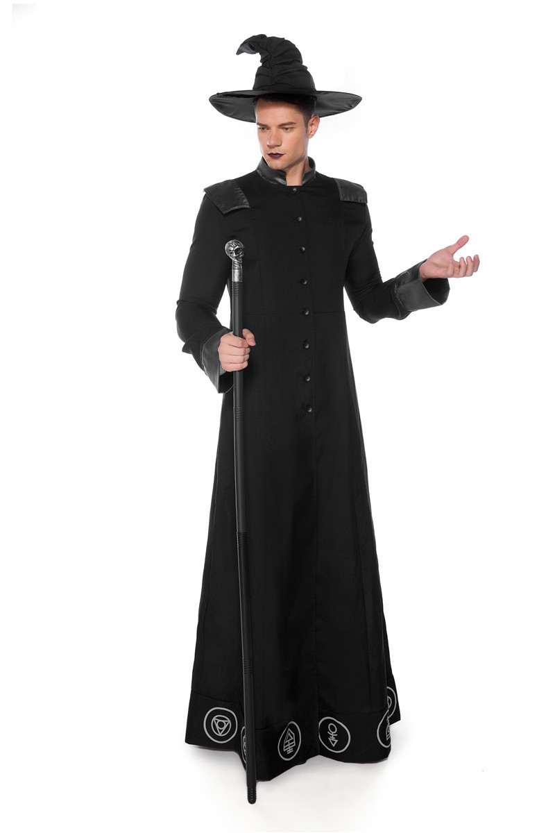 Купить halloween role playing wizard adult men and women costume cosplay