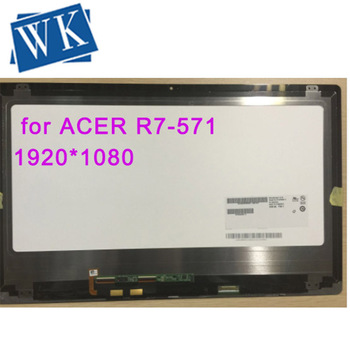 15.6'' Digitizer Glass Touch Screen + lcd display assembly for Acer Aspire R7 R7-571 with tracking code