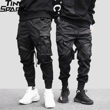 2020 Hip Hop Cargo Pants Pockets Men Streetwear Harajuku Joggers Pants HipHop Swag Ribbion Harem Pants Fashion Casual Trousers