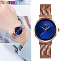 SKMEI Brand Luxury Quartz Women Watches Fashion Ladies Bracelet Clock Waterproof Steel Strap Female Wristwatch relogio feminino