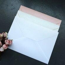 50pcs 진주 색 봉투 초대장 선물 봉투
