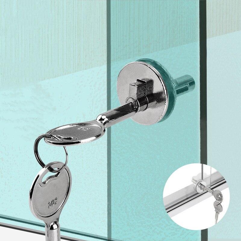 1pc Push Door Glass Lock showcase Cabinet Display Showcase Drawer Case Sliding Ratchet Locks Furniture Hardware
