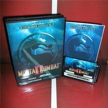 Mortal Kombat 2 EU 커버 박스 및 설명서 Sega Megadrive Genesis 비디오 게임 콘솔 16 비트 MD 카드