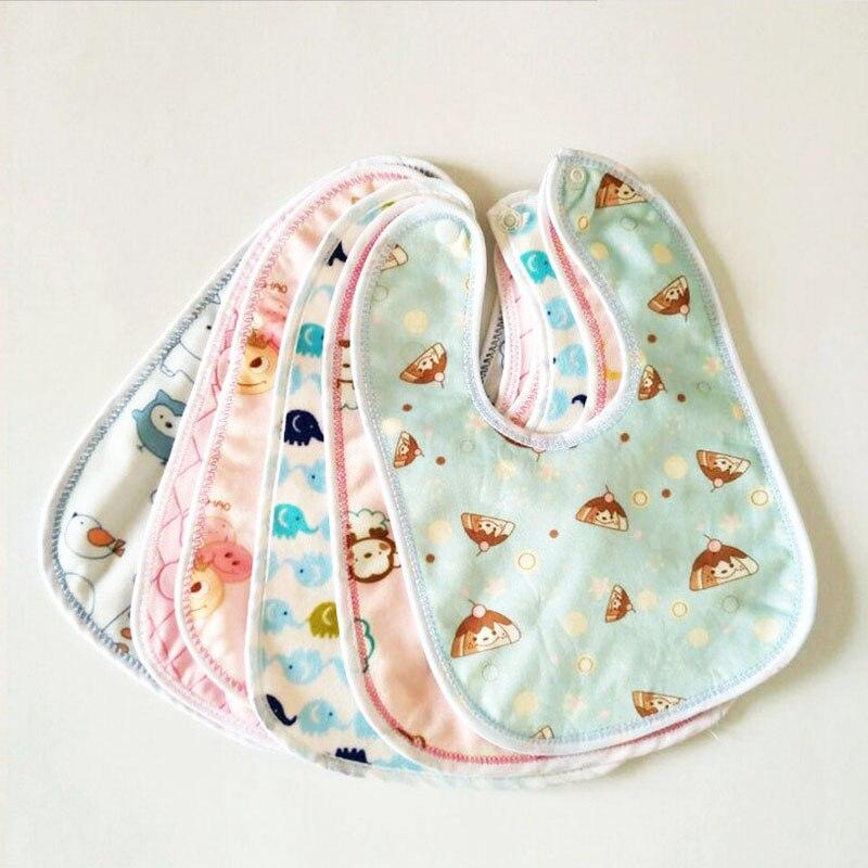 2 pçs babadores de bebê à prova dwaterproof água babadores de algodão dos desenhos animados babadores recém-nascidos burp pano lenço do bebê bandana babadores para crianças meninos meninas coisas do bebê