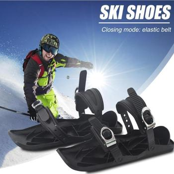 Pad Nylon Sole Ski Board Snowboard Shoes Black Suitable Thickened Ski Shoes High Quality Skiing Sled Snow Adult