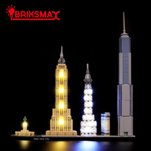 BriksMax Led Light Up Kit For Architecture New York City Building Blocks Compatible With 21028 (NOT Include Model)
