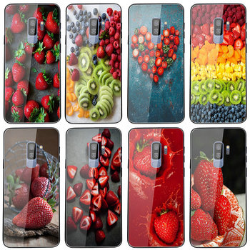 Tempered Glass Case For Samsung S8 S9 S10 A6 A8 A9 A10 A20 A40 A50 A70 A80 Plus Roasted Strawberry Rhubarb Agua Fresca image