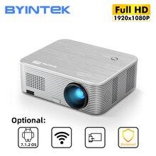 Byintek K15フルhd 4 18k 300インチ1080 1080pスマートandroidの無線lanレーザー3D ledビデオプロジェクター用スマートフォン