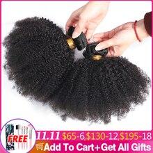 Afro Kinky Krullend Haar Weave 1 2 3 6 9 Bundels Deal Remy Haar 100% Menselijk haarverlenging 8 20 Inch Natuurlijke Kleur Jarin Haar Bulk