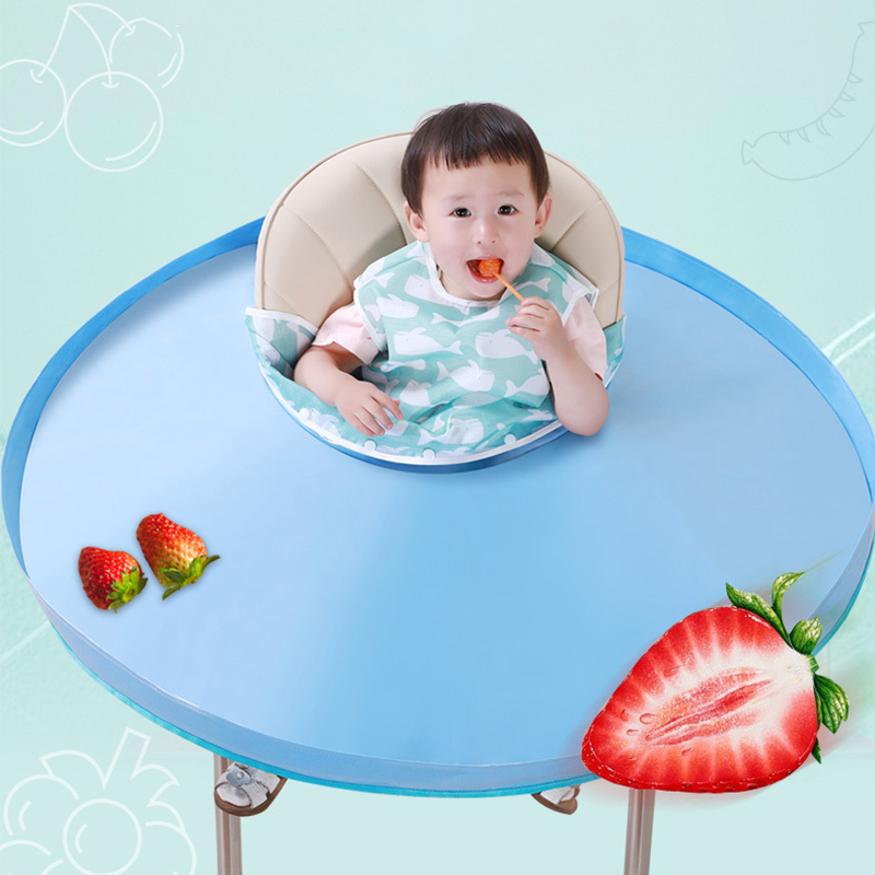 Feeding Saucer Bib Baby Protective Portable Waterproof Durable Highchair Cover