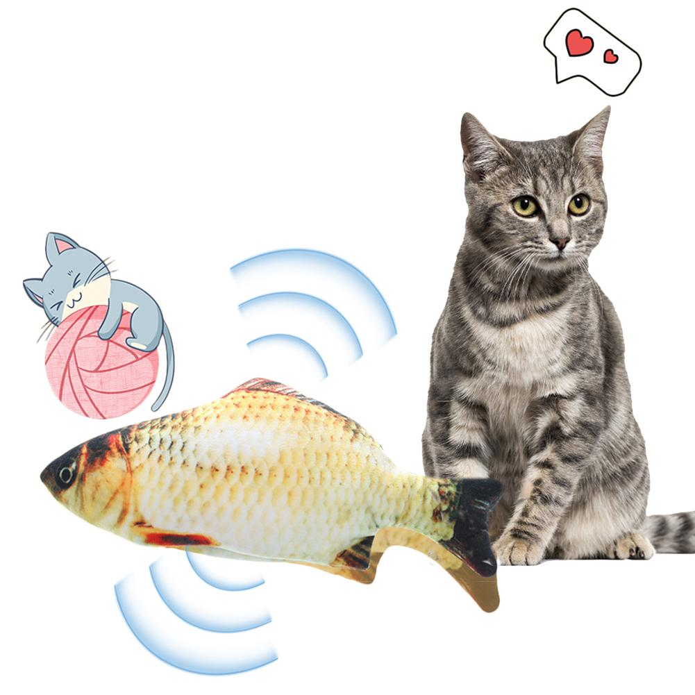 Cat Toys Electronic Wagging Fish Realistic Plush Toy Simulation Catnip Soft Gift For Pet Chewing Playing Biting Supplies