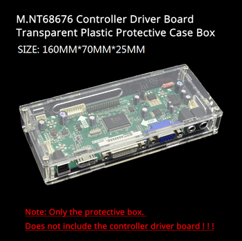 LED/LCD display driver controller board transparent protective case box For our M.NT68676 controller driver card mother board 1