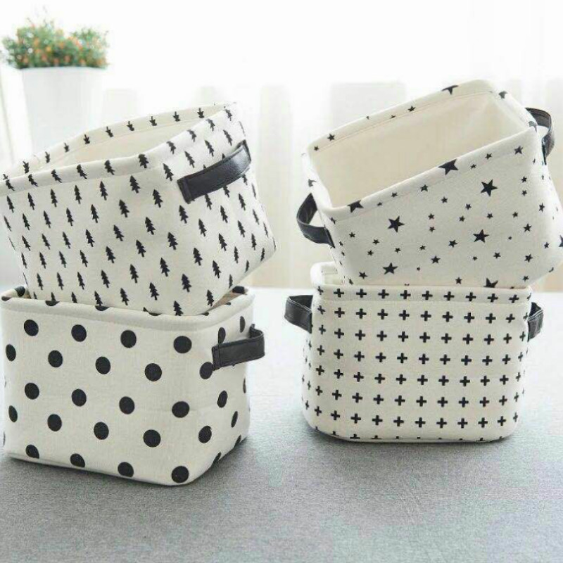 Linen Cotton Fabric Printing Dots Cotton Cloth For Diy Handmade