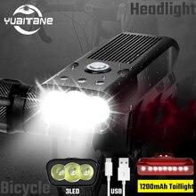 Супер мощный велосипедный головной светильник l2 перезаряжаемый