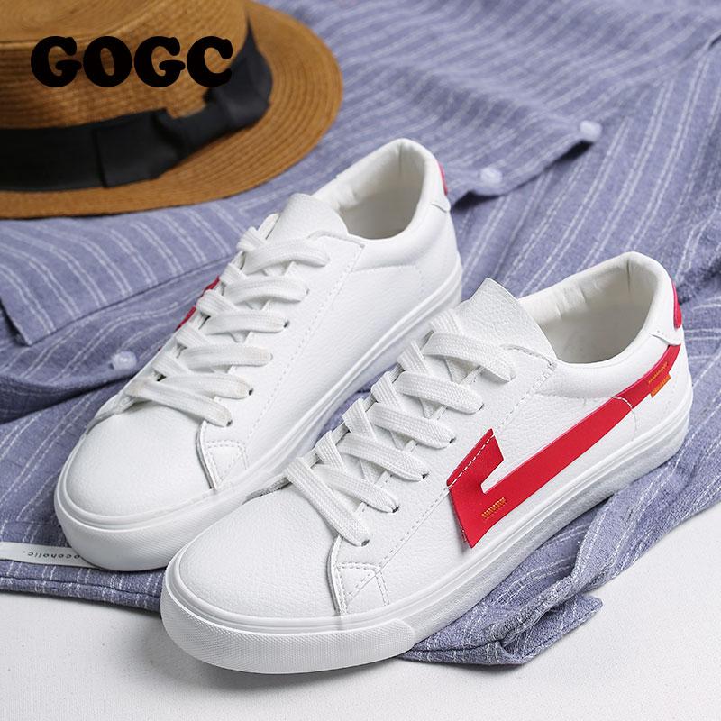 GOGC 2019 Women Vulcanize Shoes Casual Shoes Woman White Shoes Woman Sneakers Sneakers Tenis Feminino Women Canvas Shoes 782