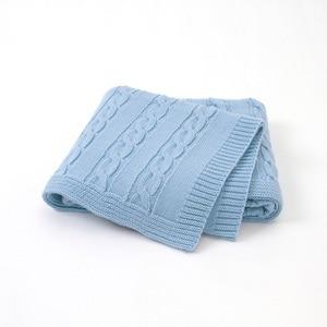 Image 3 - Newborns Boys Girls Baby Blankets Knitted Infant SwaddleMonthly Kids Quilt Stuff For Toddler Stroller Cobertor Infantil Wrap