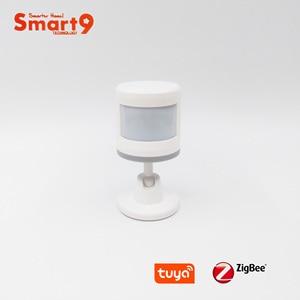 Image 2 - Инфракрасный датчик Smart9 ZigBee с подставкой для ног, работает с датчиком движения TuYa ZigBee Hub, датчик движения человеческого тела, питание от TuYa