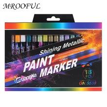 Art Marker-Pen Painting-Pen Permanent Graffiti Metallic Colored Black Album Stationery