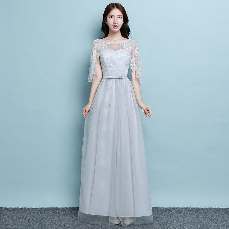 Burgundy Bridesmaid Junior A-Line Wedding Guest Dress Long Prom Dress Simple Sister Dress Elegant Plus Size Tulle Gray Vestidos