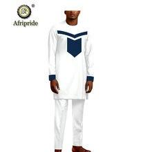 Мужской спортивный костюм африканские Дашики рубашки и штаны