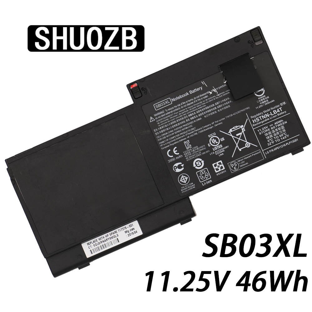 SB03XL Laptop Battery For HP Elitebook 720 725 820 G1 G2 HSTNN-IB4T HSTNN-l13C HSTNN-LB4T SB03046XL 717378-001 E7U25AA E7U25ET