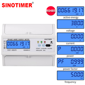 Din Rail Electric Three Phase Energy Meter RS485 kWh Consumption Power Voltage Current Wattmeter Monitor Modbus RTU 380V 400V(China)