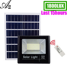 A2 Solar Light Super Bright 1800Lux solar lamp 8000mA battery Wireless Outdoor Garden Waterproof large Solar panel light