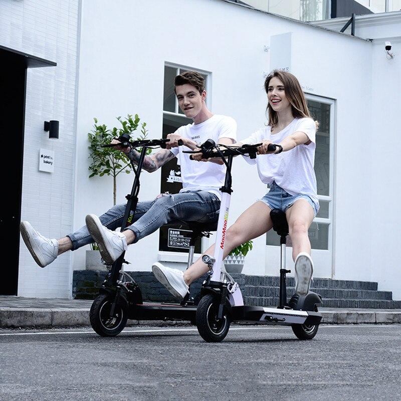 Doppel Stick Elektrische Skateboard Roller Falten Zwei Räder Elektro scooter 10 ''Leistungsstarke Elektrische Roller 1200W 48V 50 KM/H - 6