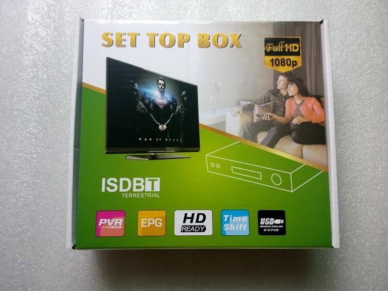 HD FTA ISDB-T receiver tv tuner Terrestrial for Brazil Argentina Chile Venezuela Costa Rica Philippines 10 -