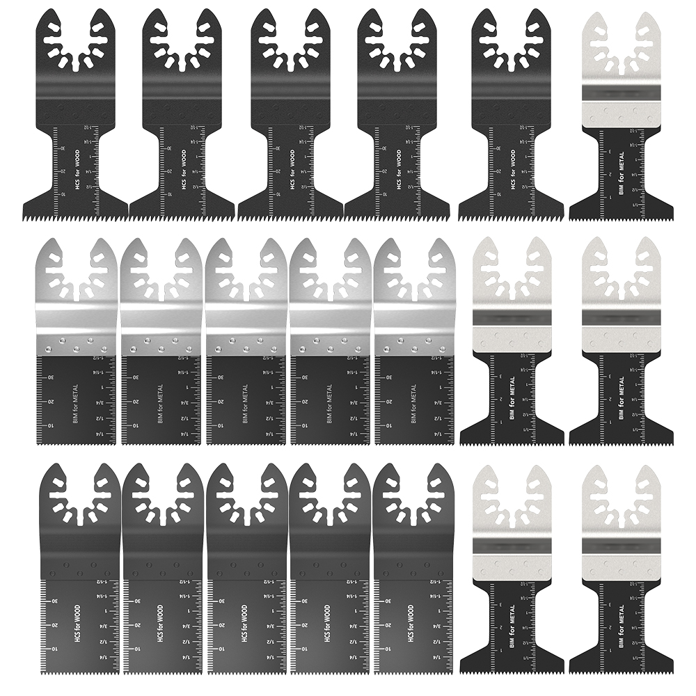 20Pcs Oscillating Multi Tool Saw Blade For Fein Bosch Multimaster Makita Bosch Cutting Wood Tools For Renovator Power Blades