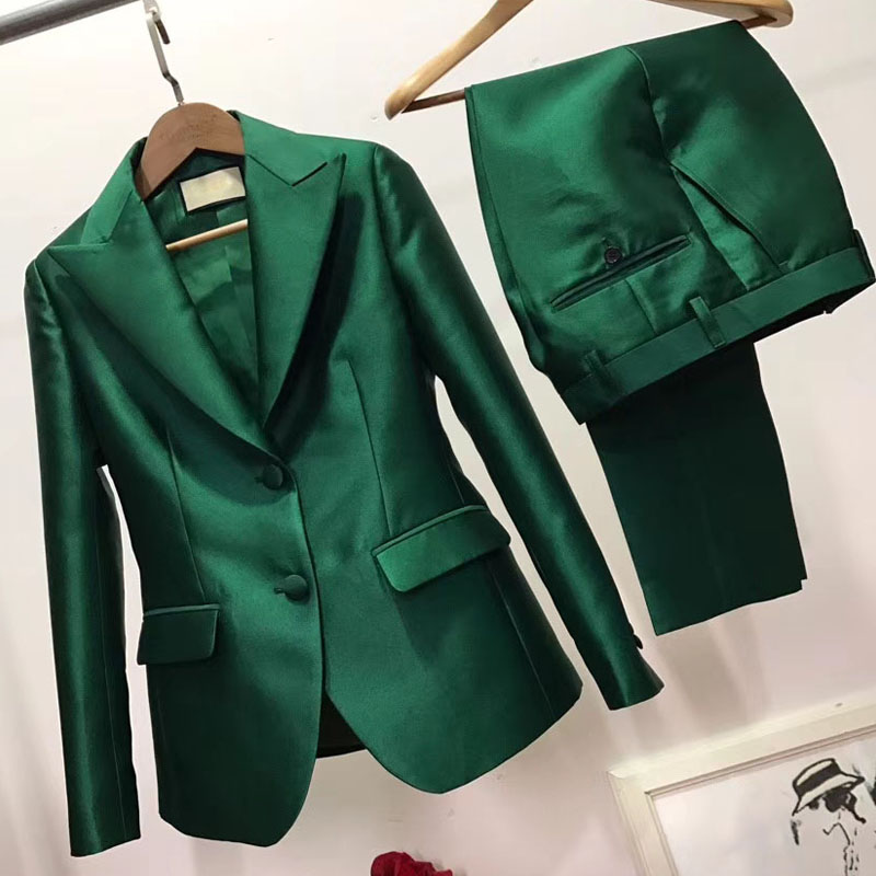 2019 Elegant Women's Suit Plus Size Women's Pantsuit Casual Blazer And Trouser Garnitur Damski 5XL 6XL Tailleur Femme Office Set