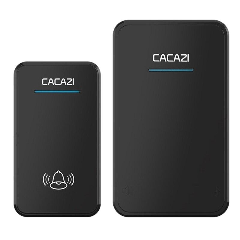 Cacazi Wireless Doorbell Waterproof 300M Remote Long Range Door Bell 48 Rings 6 Volume Door Chime Eu Plug