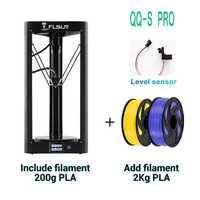 QQ-S Pro Flsun Delta 3D Stampante Ad Alta Velocità di Nuova Auto-livellamento Interruttore di Grande Formato di Stampa kossel 3d-Printer Touch screen