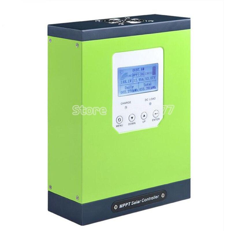 60A MPPT Solar ladegerät Controller 12V 24V 48V auto anerkennung Photovoltaik Controller LCD display