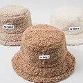 Панама из искусственного меха ягненка, зимние теплые бархатные шапки для женщин, Дамская утолщенная Панама, уличная Рыболовная Шапка, кепки
